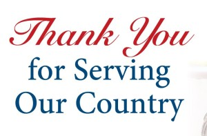 thanks for serving
